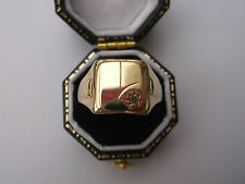 Gold Men's Ring Vintage Men's/Womens 9ct Gold Signet Ring W1.8g Size O Stamped
