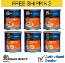 New 1 Case (6 cans) of Mountain House Beef Stroganoff Emergency Food Supply