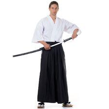 Japan Kendo Gi & Hakama Set Laido Aikido Samurai Kimono Set Weiß Schwarz M L XL