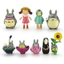 9PCS New Hot My Neighbor Totoro & Spirited Away Mini Figure Collection Set