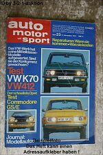 AMS Auto Motor Sport 23/72 * Renault Alpine A 310 Commodore GS/E VW K70