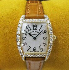 Franck Muller Cintree Curvex 18kt Yellow Gold Diamond Watch 2251