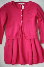 BABY DIOR PINK KNIT COTTON DRESS AND CARDIGAN 18 MONTHS