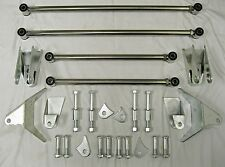 1932 FORD HEAVY DUTY STAINLESS 32 SS TRIANGULATED REAR 4 LINK FOUR BAR KIT