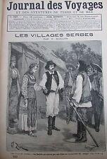 JOURNAL DES VOYAGES N° 757 de 1892 LES VILLAGES SERBES  / FETE EPIPHANIE A ROME