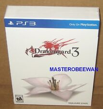 PS3 Drakengard 3 Collector's Edition New Sealed + DLC (Sony PlayStation 3, 2014)