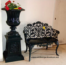Outdoor Garden Patio Seating Chair Cast Aluminum Victorian Oakleaf Park Bench