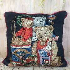Tapestry Throw Pillow Teddy Bear Christmas Toys Holiday American Jack In The Box