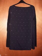 BNWT FCUK French Connection ASOS Black Diamonte Sparkle Arctic Spell Blouse Top