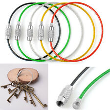 Practical 5Pcs Mixed Colors Stainless Steel Wire Keychain Cable Key Ring Chains