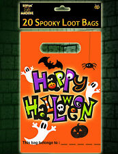 20 x HALLOWEEN Large Party Loot Treat Favour Bags trick or treat FREE P&P