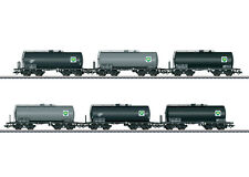 Marklin DB Era III Oil Tank Car Set, BP Hamburg Nice Boxed Set of Six Different