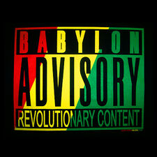 NEW Reggae T-Shirt Rasta Babylon Advisory Revolution 100% Cotton, Small, Black