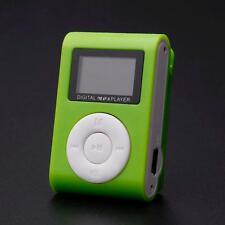Green MP3 Player Music LCD 32GB Micro SD Karte Clip-Function Aluminium Metall