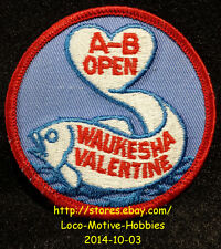 LMH PATCH Badge  WAUKESHA VALENTINE A-B OPEN  Valentines Day Fish Heart League