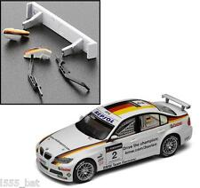 New Scalextric W9851 BMW 320SI Rear Wing Spoiler, Mirrors & Wipers For (C3020)