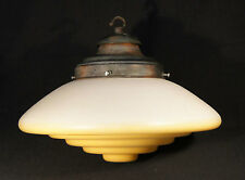 1940'S ART DECO GLASS LAMP LIGHT SHADE ROTHWELL UFO FLYING SAUCER INSPIRED.