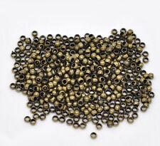 500 Antiguo Bronce Crimp Perlas ~ 2,5 mm ~ la fabricación de joyas ~ Molduras ~ resultados (52a)