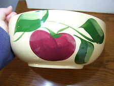 Watt Pottery #73 Apple Bowl with Advertising