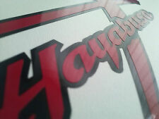 2 x Black red Suzuki hayabusa moto sticker for fairing decal motorcycle