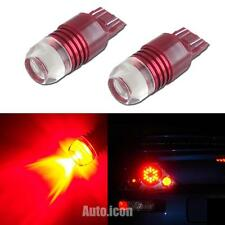 2pcs Strobe Flashing Red 7440 7443 LED Projector Bulbs For Car Tail Brake Lights