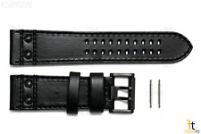 Luminox 1879.BO Field 26mm Black Leather Watch Band Strap w/ 2 Pins 1881.BO