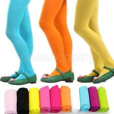 Hot Girl Kid Tights Opaque Pantyhose Ballet Q432 13 Color Dance Pants-Pink S