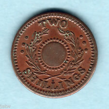 Australia - Internment Camps. WW.11 Two Shillings..  NO Central Hole.. EF - RARE