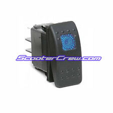 3 Way Illuminated Blue Marine Boat Rocker Switch 12V 20A Rinker Tige Wellcraft