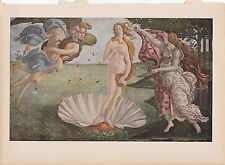 "1939 Vintage ""THE BIRTH OF VENUS"" by BOTICELLI Color Art Plate Lithograph"