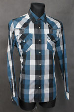 NUDIE JEANS  SHIRT HEMD CHEMISE  SKJORTA CHECK LARGE  SLIM