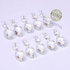 20PCS CLEAR CHANDELIER CRYSTAL LAMP PARTS GLASS PRISMS 38MM HANGING PENDANT DROP
