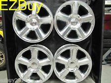 "20"" NEW CHEVY SILVERADO TAHOE FACTORY STYLE POLISHED SET OF 4 WHEELS RIMS 5308"