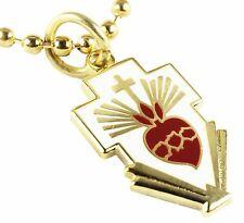 SACRED HEART of JESUS Christ Cross Catholic Pope Vatican Charm Necklace Pendant