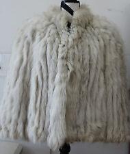 Womens Vintage Blue Fox Fur Lined Coat Sz Sm #S36