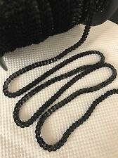 Sequin String Trim Black Tiny 4mm x 3 Meters RARE!
