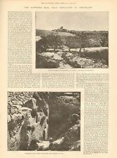 1892 ANTIQUE PRINT- ARTICLE, THE SUPPOSED REAL HOLY SEPULCHRE AT JERUSALEM