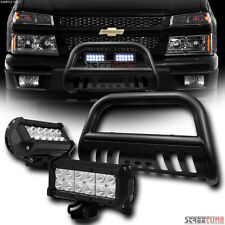 Hammer Blk Bull Bar Grille Guard w/36W Cree LED Fog Lights 04-12 Colorado/Canyon