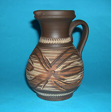 Austrian Studio Art Pottery (Handarbeit) Hand Made - Attractive Sgraffito Jug.
