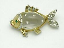 Vintage CORO Jelly Belly Lucite Fish Brooch Pin 1949