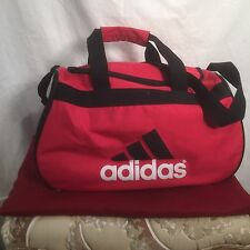 ADIDAS Small Duffel Bag Sport Gym Travel Expandable RED/WHITE/Black