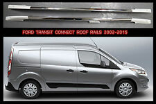Ford Transit Connect Alluminium / White Roof Rails 2002 - 2013 non drill set