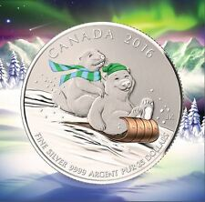Canada 2016 $25 for $25 Fine Silver Coin – Winter Fun
