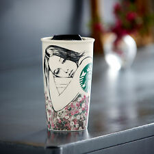 STARBUCKS Charlotte Ronson Ceramic Doble Wall Travel Cup Mug 12 fl oz 2013