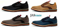 NEW Mens Fashion Casual Smart Shoes Lace Up Formal Work Office Wedding Size UK