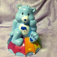 CARE BEARS GRUMPY BEAR ON RAINBOW CERAMIC COIN PIGGY BANK