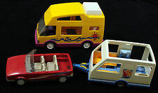 Playmobil Camper RV Vacation Motor Home with Trailer and Car Lot of 3