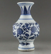 Delicate Chinese Hand Painted Blue and White Porcelain Vase  L339