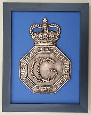 Large Scale Framed HER MAJESTY'S COASTGUARD CAP BADGE HM Search & Rescue Model