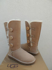 UGG SAND BAILEY BUTTON TRIPLET SUEDE/ SHEEPSKIN BOOTS,  WOMENS US 6/ EUR 37 ~NIB
